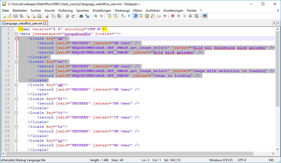 Konfiguration in C:\Tomcat\webapps\<WebOffice Applikation>\client_core\jss\language_weboffice_user.xml