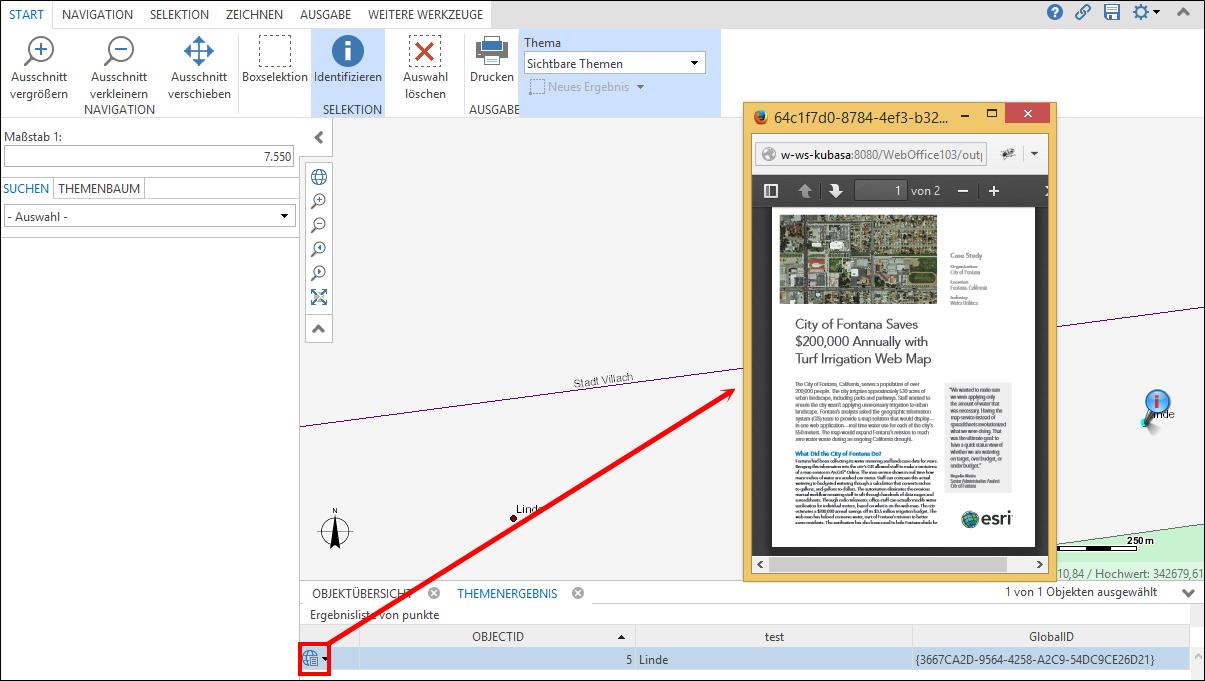Abbrufen der Anlagen in WebOffice