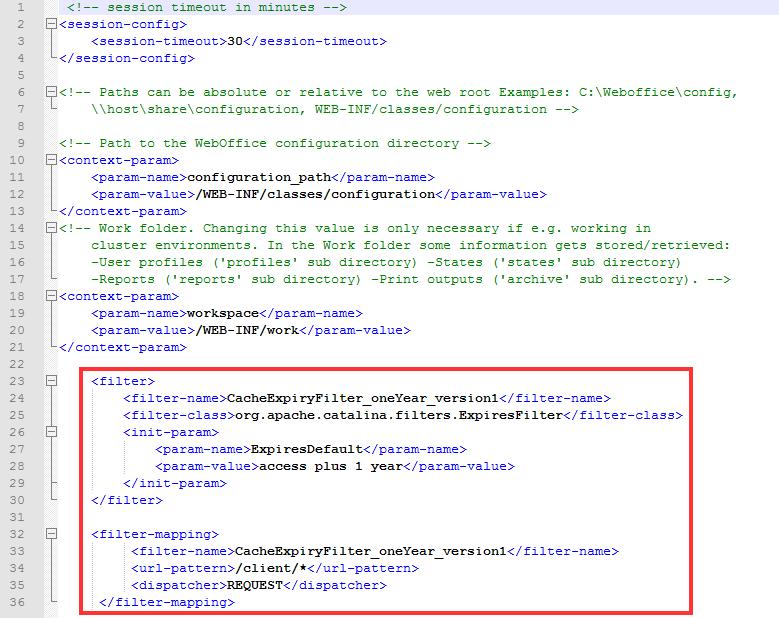 """Definition von """"filter"""" und """"filter-mapping"""" in der web_user.xml"""