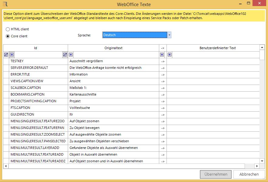 WebOffice WebOffice core Client Texte