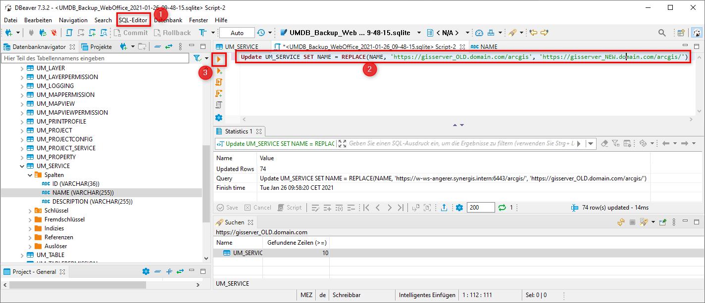 Befehl im SQL Editor ausführen