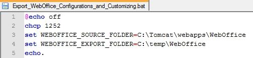 SOURCE und EXPORT Folder anpassen
