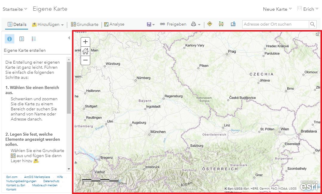 Drag&Drop der CSV-Datei auf Karte