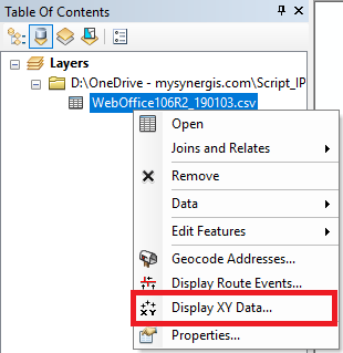 Display XY Data in ArcMap