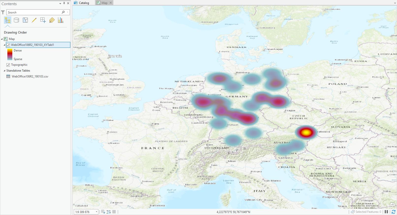Heatmap in ArcGIS Pro