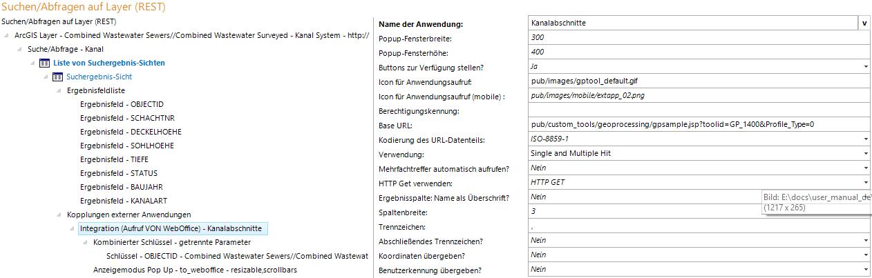 Integration (Aufruf VON WebOffice) Konfiguration