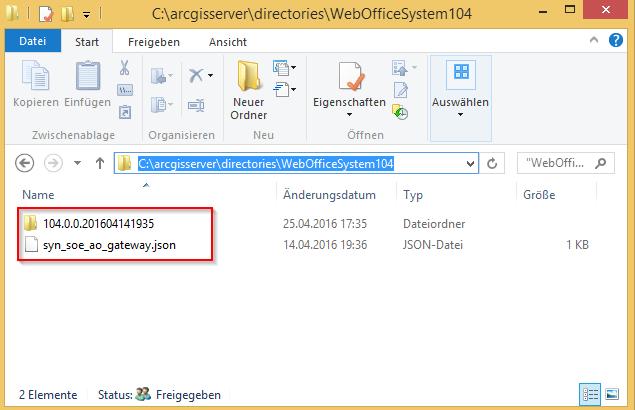 Hinzufügen der WebOffice Systemdateien