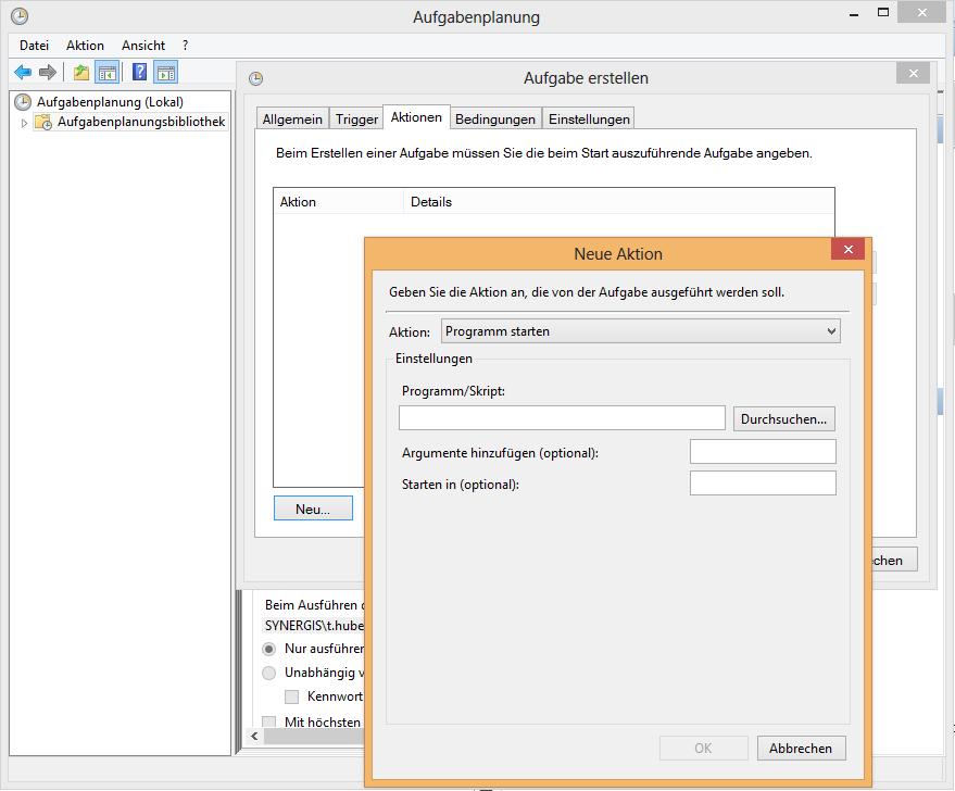 Automatische Aufgabe in der Windows Aufgabenplanung