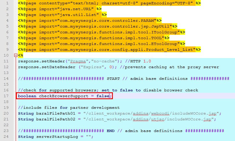 Deactivate the warning for unsupported browser in WebOffice core client