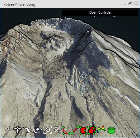 3D visualisation via Potree Viewer in WebOffice 10.9