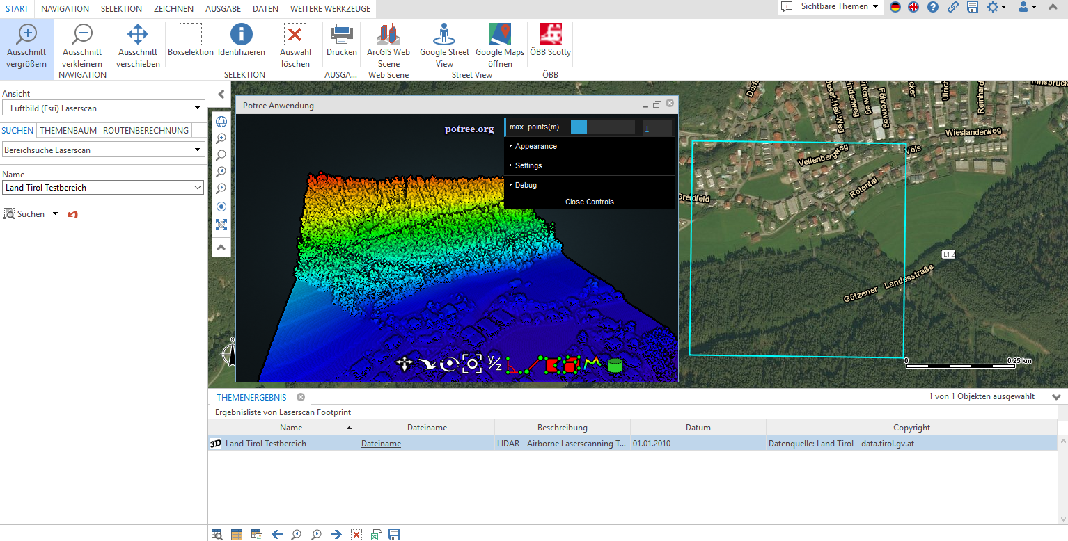 3D visualisation inside WebOffice core client