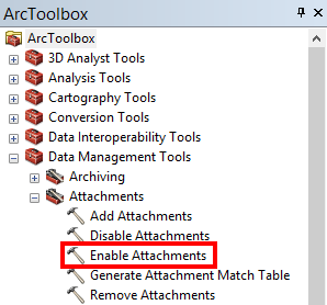 Enable Attachment Tool