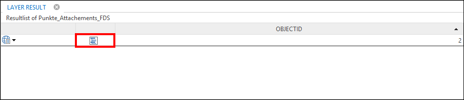 Table content button within the queryresult of WebOffice core client