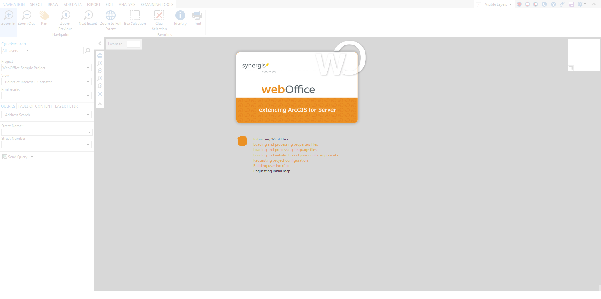 Userdefined grey background color within the map area of the WebOffice core client
