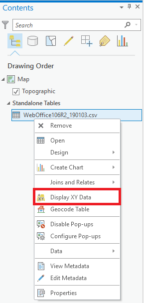 Display XY Data in ArcGIS Pro