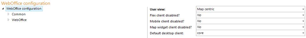 Configure WebOffice core client to be the standard desktop client