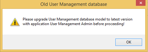Notification of incompatibility of WebOffice Author and user management