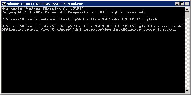Beispiel für das Loggen des WebOffice author Setups - Logdatei wird am Desktop abgespeichert