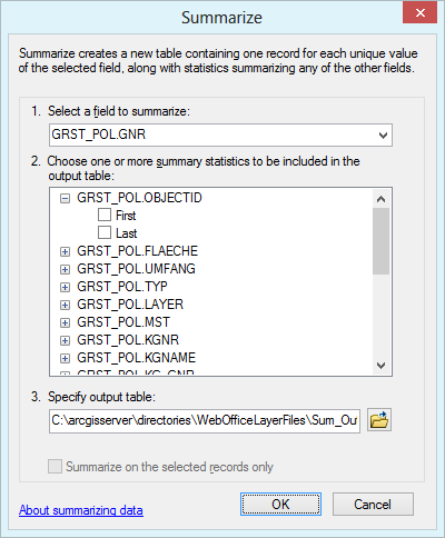 Function Summarize for identification of duplicate attribute values