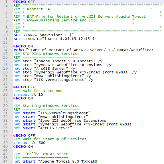 Example for Restart.bat file