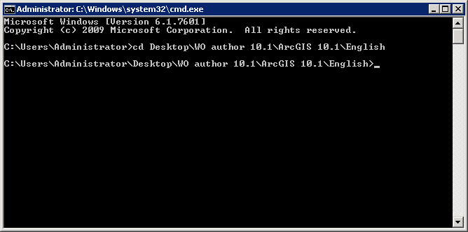 Navigate to the folder that contains the .msi file