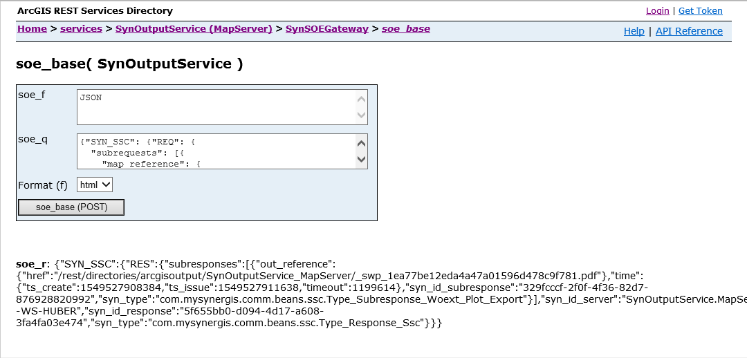 print test directly via SynSOEGateway by SynOutputService
